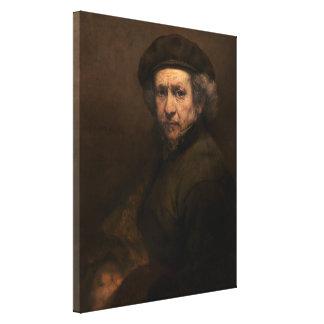 Rembrandt Self Portrait Vintage Fine Art Painting Gallery Wrapped Canvas