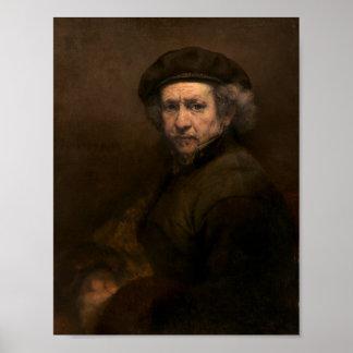 Rembrandt Self Portrait Vintage Fine Art Painting Print