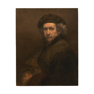 Rembrandt Self Portrait Vintage Fine Art Painting Wood Canvases