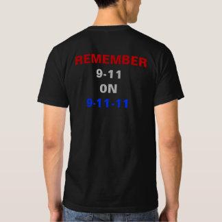 Remember 9-11 on 9-11-11 Flag RWB 10th Anniversary Shirts