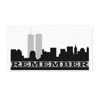 Remember New York 911 Shipping Label