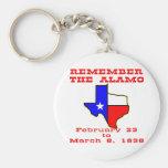 Remember The Alamo #003 Basic Round Button Key Ring
