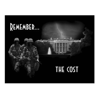 Remember the cost post card