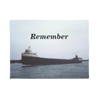 Remember The Edmund Fitzgerald Great Lakes Doormat