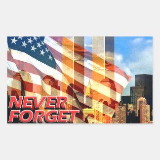 Remember The September 11, 2001 Terrorist Attacks Rectangular Sticker