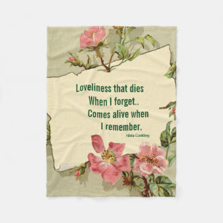 RememberPink Roses Fleece Blanket Small