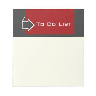 Reminder TO Do List Arrow Design Notepad