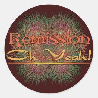 Remission - Oh Yeah! Round Sticker
