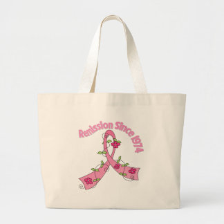 Remission Since 1974 Breast Cancer Canvas Bag