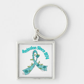 Remission Since 1974 Ovarian Cancer Keychains