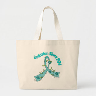 Remission Since 1974 Ovarian Cancer Tote Bags
