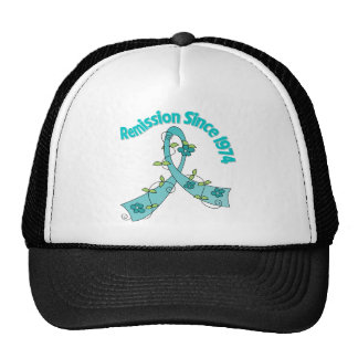 Remission Since 1974 Ovarian Cancer Trucker Hats