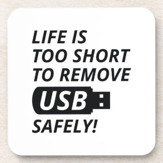 Remove USB Safely Beverage Coasters