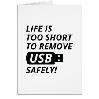 Remove USB Safely Card
