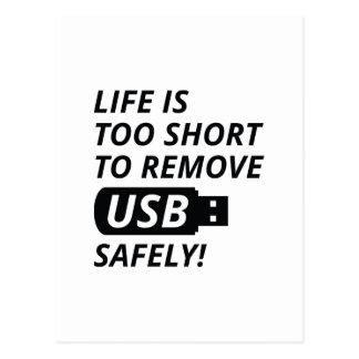 Remove USB Safely Postcard