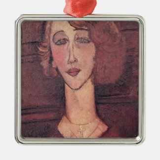 Renee, 1917 Silver-Colored square decoration