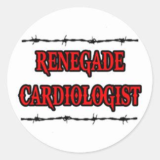 Renegade Cardiologist Round Sticker