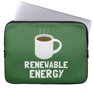 Renewable Energy Coffee Cup Laptop Sleeve