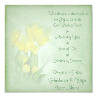 Renewing Wedding Vows 13 Cm X 13 Cm Square Invitation Card