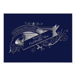 RENEWING WEDDING VOWS- INVITATION - NAVY BLUE