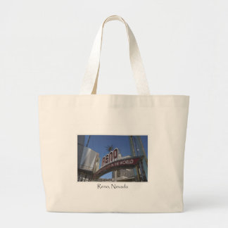 Reno Nevada Biggest Little City in the World Large Tote Bag