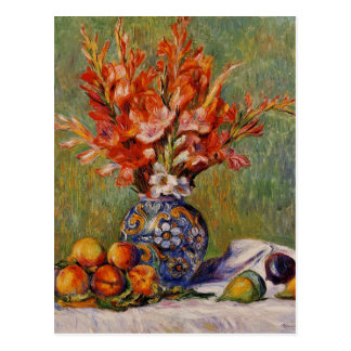 Renoir Flowers and Fruits Vintage Still Life Postcard