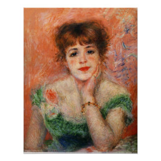 Renoir Jean Samary in a Low Necked Dress Poster