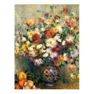 Renoir's A Vase of Chrysanthemums Postcard