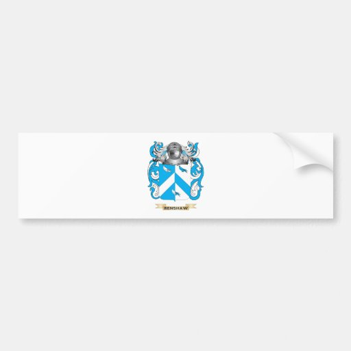 Renshaw Coat of Arms (Family Crest) Bumper Sticker