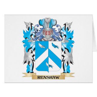 Renshaw Coat of Arms - Family Crest Big Greeting Card