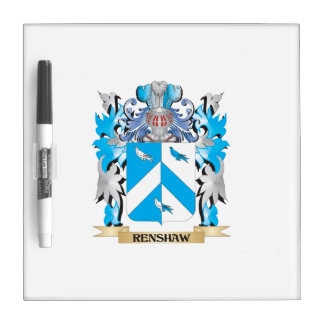 Renshaw Coat of Arms - Family Crest Dry-Erase Whiteboard