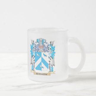 Renshaw Coat of Arms - Family Crest Frosted Glass Mug