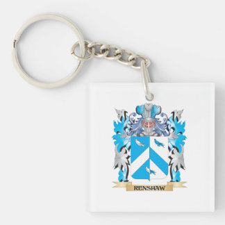 Renshaw Coat of Arms - Family Crest Square Acrylic Key Chain