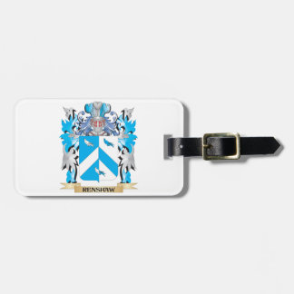 Renshaw Coat of Arms - Family Crest Tag For Luggage