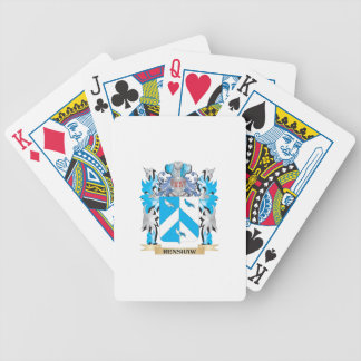 Renshaw Coat of Arms - Family Crest Bicycle Playing Cards