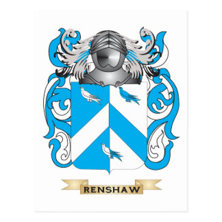 Renshaw Coat of Arms (Family Crest) Postcard