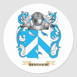 Renshaw Coat of Arms (Family Crest) Round Stickers