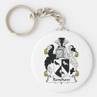 Renshaw Family Crest Basic Round Button Key Ring