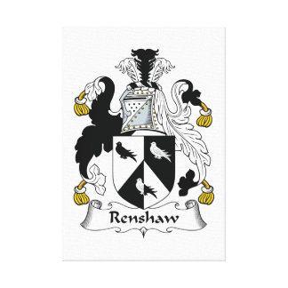 Renshaw Family Crest Stretched Canvas Prints