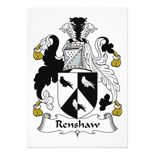 Renshaw Family Crest Announcement