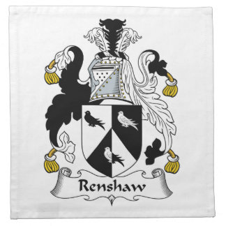 Renshaw Family Crest Printed Napkins
