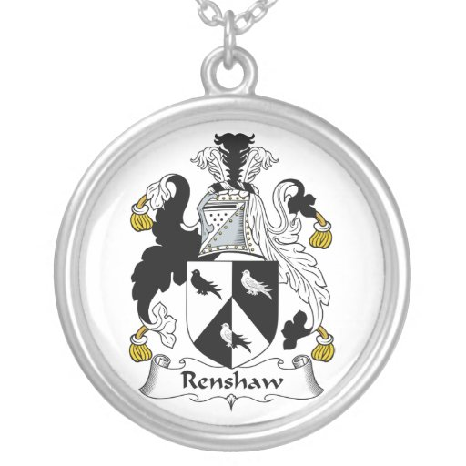 Renshaw Family Crest Personalized Necklace