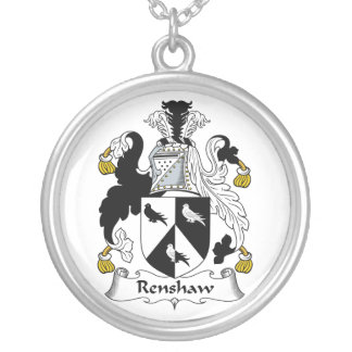 Renshaw Family Crest Round Pendant Necklace