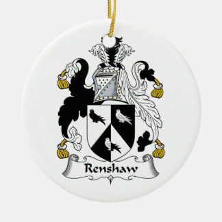Renshaw Family Crest Ornament