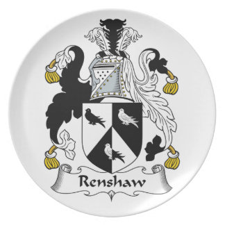 Renshaw Family Crest Plates