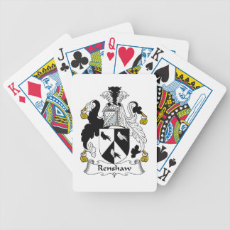 Renshaw Family Crest Poker Cards
