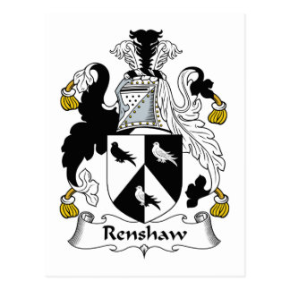 Renshaw Family Crest Postcard