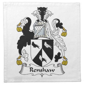 Renshaw Family Crest Printed Napkins