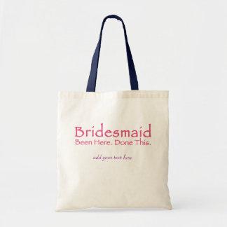 Repeat Bridesmaid Gear Canvas Bag