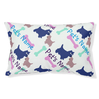 Repeating Dog's name Bed with dogs and bones
